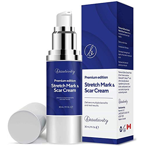 Scar Remover Cream, Premium Edition Scar Removal Cream for Scars from C-Section, Stretch Marks, Acne, Surgery, Injury, Burns, Effective for both Old and New Scars, Made in Canada