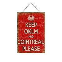 オクルムとコアントローを守ってください木製のリストプラーク木の看板ぶら下げ木製絵画パーソナライズされた広告ヴィンテージウォールサイン装飾ポスターアートサイン
