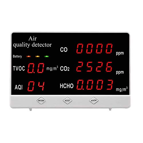 LHQ Gas-Detektor, CO2-Detektor genaue Digitale Tester Gas Analyzer-Monitor Energieeinsparung Lange Standby-Zeit Luftqualität Detektor für Indoor Outdoor