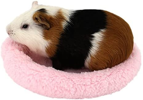 Elevin Pet Bed Small Pet Animal Cage Mat Hedgehog Hamster Squirrel Mice Rats Sleeping Mat Princess Love Heart Fleece Velvet Elegant Lovely Warm Bed TM