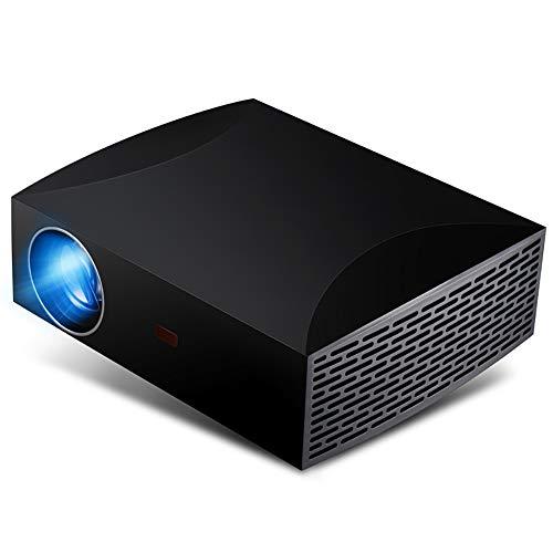 QLPP Proyector Full HD 4K de Apoyo 4200 lúmenes 15000: 1 Relación de Contraste proyector de Cine Android WiFi Bluetooth HDMI VGA USB AV para Regalo