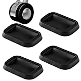 ANDEAL Furniture Cups Caster Bed Stopper Floor Protectors, Black Silicone Non-Slip Anti-Walk Appliance Pad for Small Wheels Furniture Leg and Prevents Scratches, Noise Reducing, Set of 4