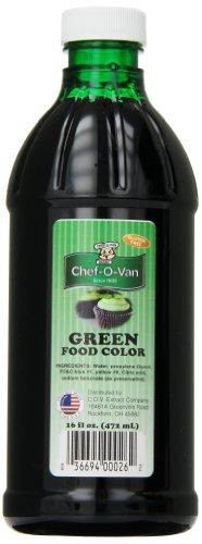 Chef-O-Van Food Coloring, Green, 16 Ounce