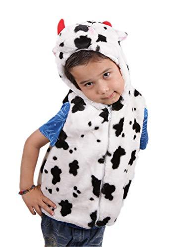 Black Sugar Chaleco sin mangas para niño, unisex, pijama de peluche, mono vaca, cebra, pingüino,...