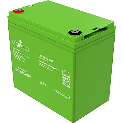 Offgridtec C10Gel batería solar batería, 50Ah, 12V, 1pieza, 007565