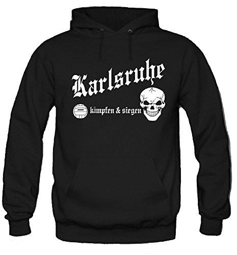 Karlsruhe kämpfen & Siegen Kapuzenpullover | Fussball | Ultras | M1 (XL)