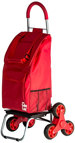 dbest products Stair Climber Trolley Dolly II storage carts, Red