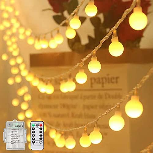Catena Luminosa, RuiLight Luci Stringa 10m Lampadina Illuminazione 100 LED , Luci Stringa Impermeabile per Esterno ed Interno,Ideale per Decorazione Casa, Natale, Feste, Giardino (bianco caldo)