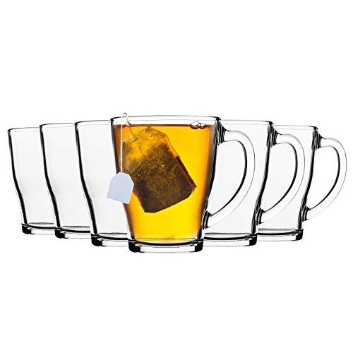 DURALEX Mugs Cosy en Verre - 350 ML/pour Grandes Boissons Chaudes - fumé - Lot de 12