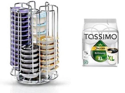 Tassimo Jacobs Krönung XL + Kapselständer Neu passend für 52 Discs