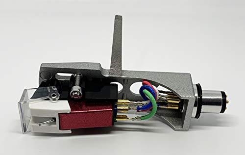Cartucho y lápiz capacitivo, aguja cónica y casco plateado con tornillos de montaje para Numark TT1625, TT1520, TT100, TT, TT1, TT2, Limit DJ2500B