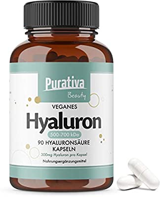 Hyaluronic Acid Capsules - 90 Capsules - 300 mg - Vegan - No Additives - No Magnesium Stearate - Packed in Germany