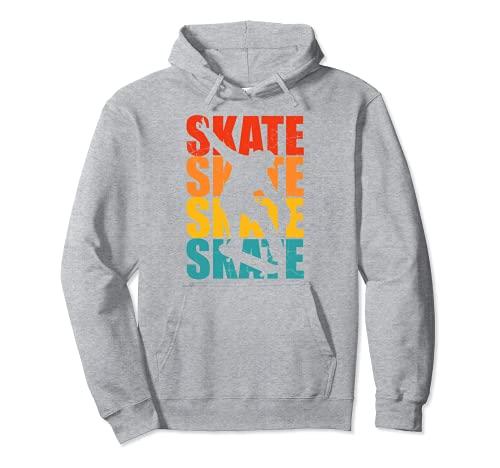 Patineta Skateboarding Regalo retro para skater Sudadera con Capucha