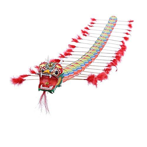 MROSW Niños Tradicional China Kite Dragon Chino Diseño Decoración Juegos de Vuelo de la Cometa vadeable niños al Aire Libre Diversión Deportes Juega Juguetes