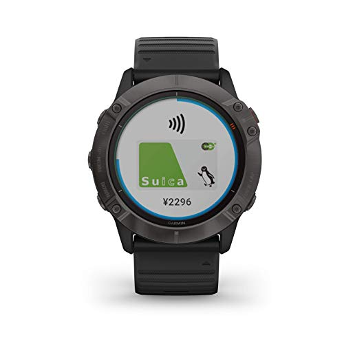 GARMIN(ガーミン)『fenix 6X Pro Dual Power Ti Black DLC(010-02157-53)』