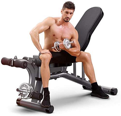 VIVOCC Banco de pesas ajustable de entrenamiento de fuerza para el hogar, gimnasio, levantamiento de pesas, Banco de abdominales, inclinación plana, declinación, multiuso, ejercicio