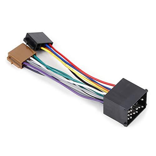 Arnés de cableado de radio de coche, kit de conector estéreo de arnés de cables de altavoz de coche Cable de arnés de conector de línea de audio Adaptador de enchufe ISO compatible con E36 E46 E39