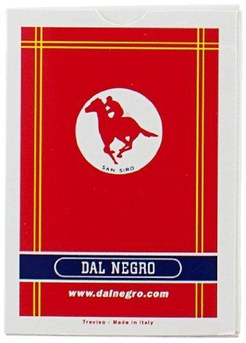 Dal Negro 20004 - Poker S. Siro Singolo Astuccio Rosso, Carte da Gioco