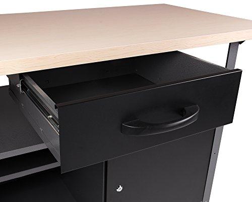 Ondis24 Werkstatteinrichtung 6-teilig Werkbank Werkzeugschrank Werkzeugwand-Lochwand mit Haken + 2x LED Touchlampe - 3