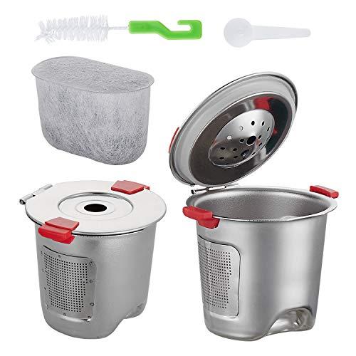 Edelstahl wiederverwendbare K Tasse für nachfüllbare Kaffee-Filter für Keurig Brauer 2.0 und 1.0 Kaffeemaschinen kompatibel Premium Kaffeepadsund Zubehör Filter K Cup
