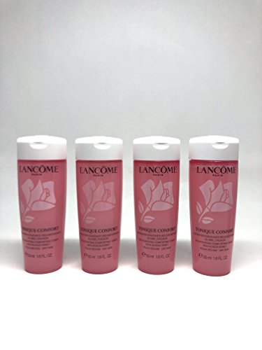 Lancome Tonique Confort Re-Hydrating Comforting Toner 50ml/ 1.69 fl each Oz. (Pack of 4.Total 200ml)