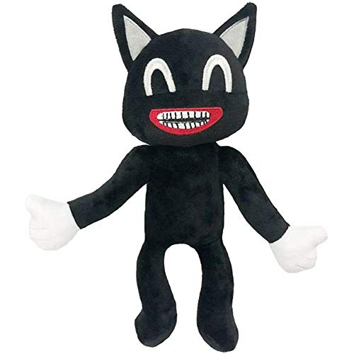 IKASEFU Siren Head Plush Animal Plush Toy, for Halloween Thanksgiving Christmas Party Boys and Girls Gift, Siren Head Toy Monster 30CM Black cat