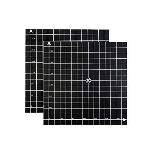 WOVELOT 2Pcs 300x300mm 3D Printer Heat Hot Bed Sticker Coordinate Printed Hot Bed Surface Sticker Part for 3D Printer Accessories