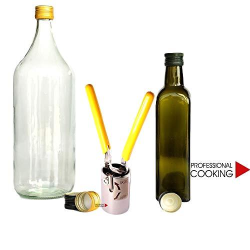 Professional Cooking Sigillatrice tappatrice Manuale bitappo Regolabile per Tappi prefilettati mm.31.5