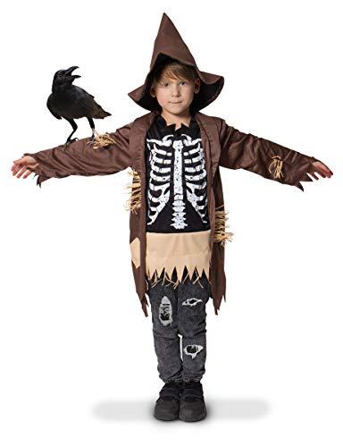 Costume da spaventapasseri scheletro per bambini - taglia 98-116