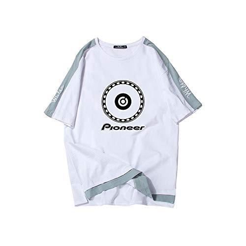 Pioneer Pro DJ Camiseta Camiseta Deportiva de algodón de Manga Corta for Hombre Camiseta Deportiva Camiseta antiodor Tecnología Ropa de Gimnasia Unisex (Color : White05, Size : XL)