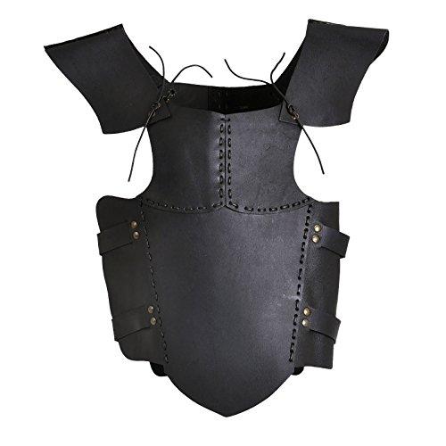 Elbenwald Lederrüstung Ready for Battle für Kinder Echtleder schwarz verstellbar