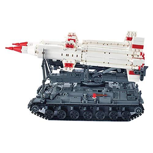 CYGG Bloques de construcción de Tanques Militares, 1469pcs SA-4 Ganef Missile Series Militar Modelo de Tanque de Juguete para niños Adultos compatibles con Lego