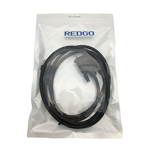 REDGO 6Ft HDMI to DVI-D 24+1 Pin Monitor Display Adapter Cable ,HDMI Male to DVI Male Gold HD HDTV