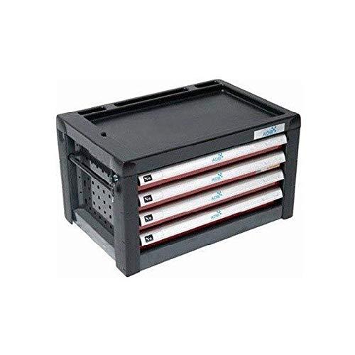 ADB Werkzeugtruhe Werkzeugkiste Werkzeugbox 4 Schubladen f. Werkstattwagen AVANT, aus Metall, für...