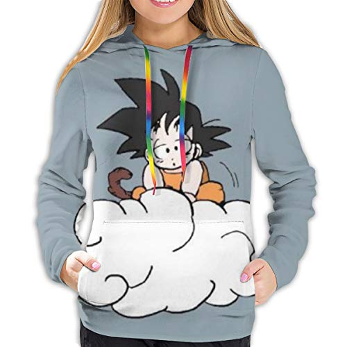 Youyouyu - Sudadera con capucha para mujer, diseño de dragón de anime Goku con estampado...