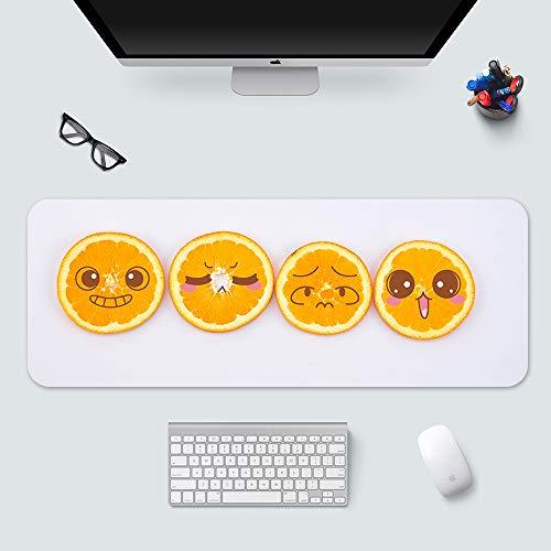 KTWMZ Alfombrilla De Ratón Ordenador Gaming Grande 80X30Cm Lindo Paquete De Emoji De Limón - para Precisión Y Velocidad - para Ratón Y Teclado-con Base De Goma Antideslizante.
