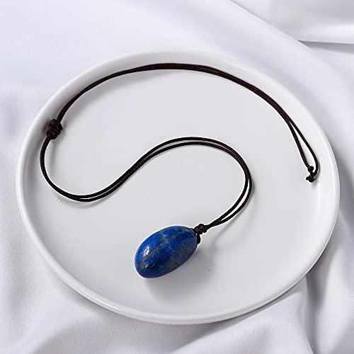 1 UNID Cristal Cristal DE CUBIERTUD DE CUBIERTUD DE CUBIERTUD DE Cubiertas Azules RUERZAS POLIRADAS Pendientes LABIS Lazuli Reiki Curación de la joyería de Piedra (Color : Lapis Lazuli)