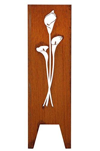 Seraphin | Calla Motivstele 150 x 50 (HxB), Cortenstahl