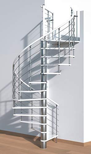 Spindeltreppe//Raumspartreppe//Wendeltreppe Sidney decor silber DM 120 cm