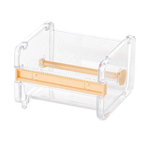 ForU-1 Duurzame Tape Dispenser Desktop Tape Cutter briefpapier Opbergdoos Organizer, Geel