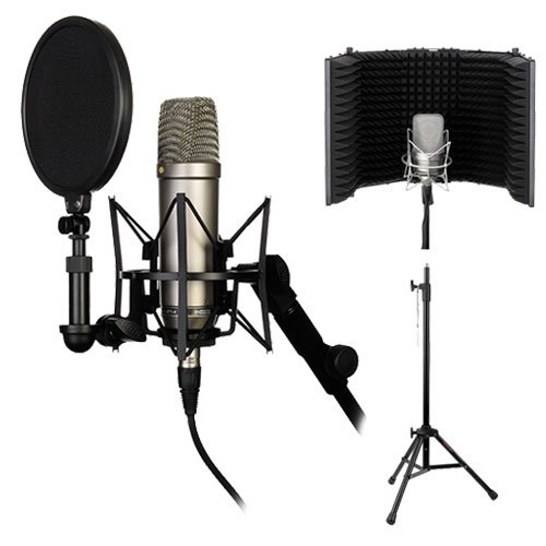 Price comparison product image Rode NT1-A Complete Vocal Recording Solution with Acoustic Reflection Filter and Tripod Mic Stand Kit