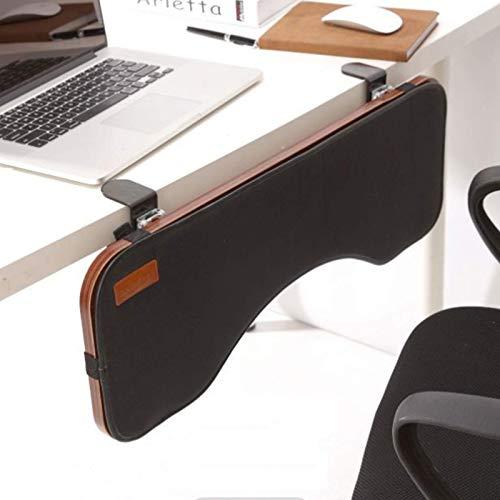 Mesa extensible ergonómica para escritorio, bandeja para teclado, extensor para escritorio para computadora, diseño sin perforaciones, soporte para apoyabrazos para teclado plegable, bandeja para tecl