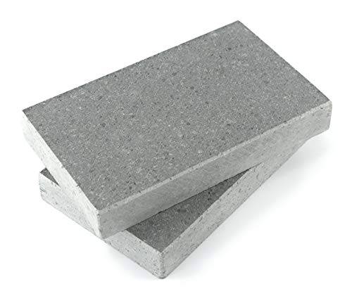 dekobe Piedra Asar Carne a la Piedra 20x12x3 | Piedra Volcánica (Pack 2 Unidades)