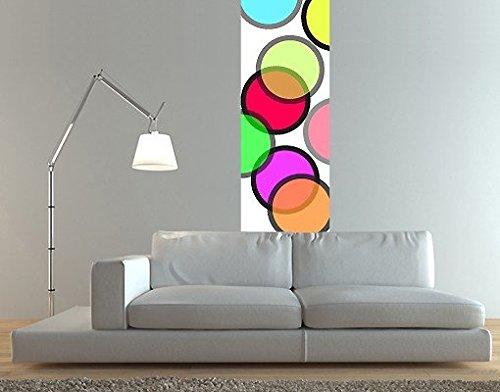 Ursula Lanzinger Adesivo murale No.UL255 Wallpaper Colorful Circles, Größe:489cm x 122cm