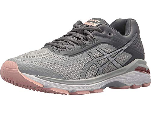 ASICS Women's GT-2000 6 Running Shoes, 9M, MID Grey/Silver/Carbon