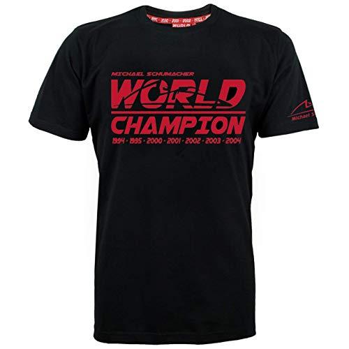 Michael Schumacher T-Shirt World Champion schwarz (XL)