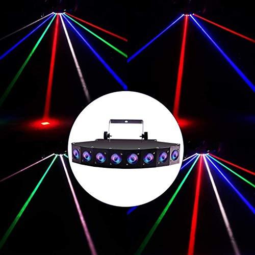Bühnenbeleuchtung DJ-Disco-Fan Beam Licht Multi-Mode Bühnenbeleuchtung - Disco Club-Geburtstags-Party Sound Control und DMX Control Metal Case ANGANG