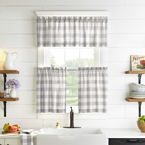 Elrene Home Fashions Farmhouse Living Buffalo Check Window Kitchen Valance, 60