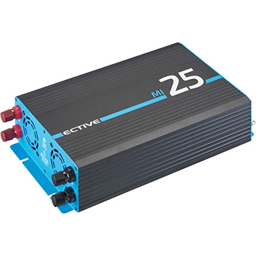 ECTIVE 2500W Wechselrichter 12V zu 230V Spannungswandler mit modifizierter Sinuswelle MI 25 in 7 Varianten: 300W - 3000W