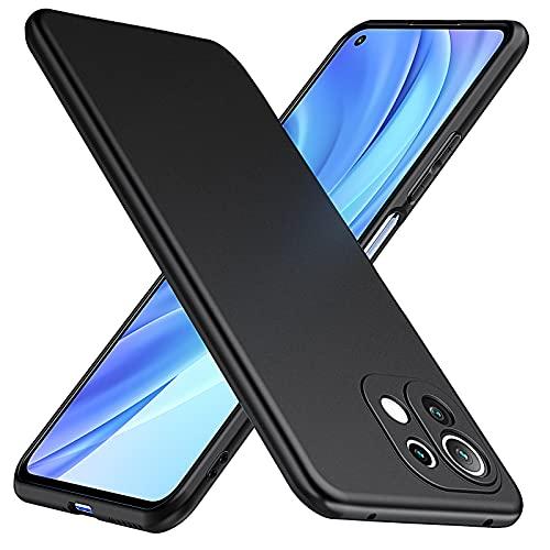 TesRank Cover per Xiaomi Mi 11 Lite 5G&4G Cover, Custodia Sottile in TPU Morbido, Cover Protezione Anti Scivolo per Xiaomi Mi 11 Lite 5G&4G-Nera